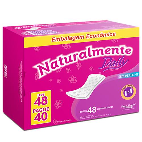 ABSORVENTE NATURALMENTE PROTETOR DIÁRIO LEVE 48 PAGUE 40