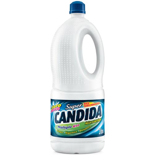 ÁGUA SANITÁRIA SUPER CANDIDA  2 LITROS     CAIXA  C/ 6X2L
