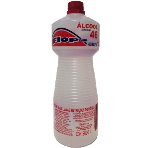ÁLCOOL FLOPS  46° 1 LITRO  | CAIXA  C/ 12X1L