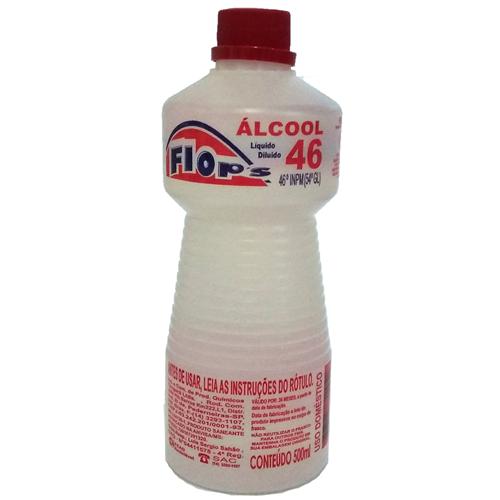 ÁLCOOL FLOPS  46° 500ML  | CAIXA  C/ 12X500ML