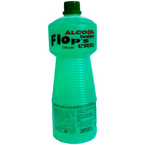 ÁLCOOL FLOPS EUCALIPTO  46° 1 LITRO    CAIXA  C/ 12X1L