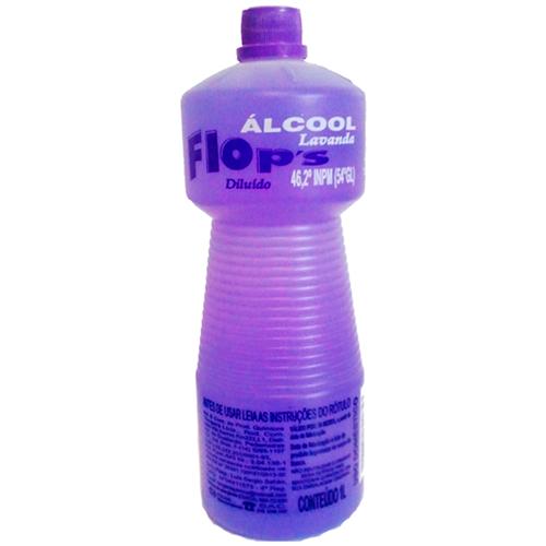 ÁLCOOL FLOPS LAVANDA  46° 1 LITRO   CAIXA  C/ 12X1L