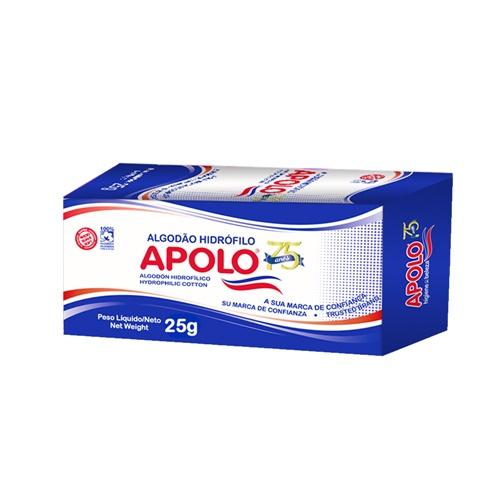 ALGODÃO APOLO CAIXA 25 GRAMAS  | PACOTE  C/ 40X25GR