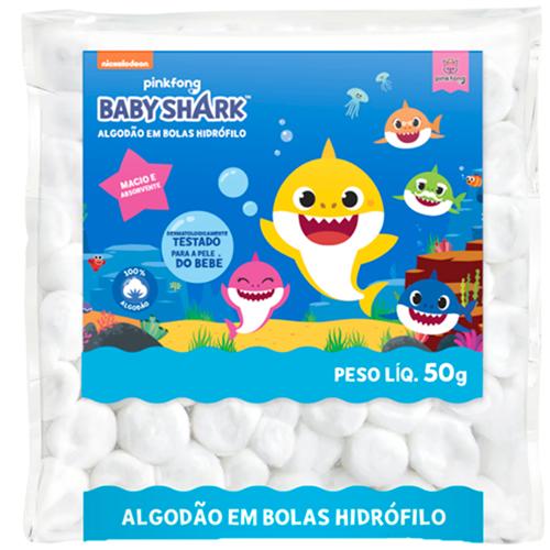 ALGODAO BABY SHARK  BOLA 50GR BRANCO