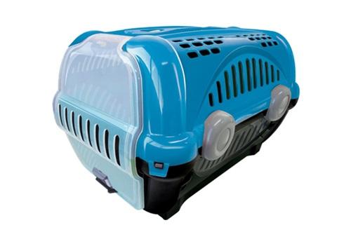 Caixa Plástica para Transporte Pet Luxo n°3 Azul Furacão Pet