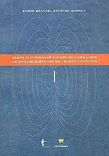 Campo eletromagnético devido a uma linha de dipolos elétricos um meio condutor