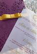 Convite para aniversário de 15 anos - Rendado R6