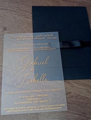 Convite para casamento - Acrílico - Corte a laser