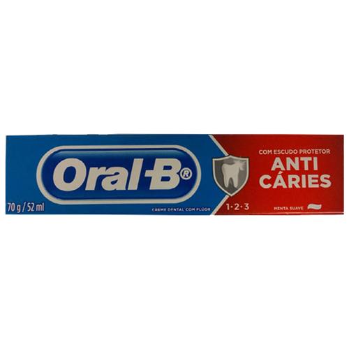 CREME  DENTAL ORAL-B 123 70G   PACOTE C/ 36X70G