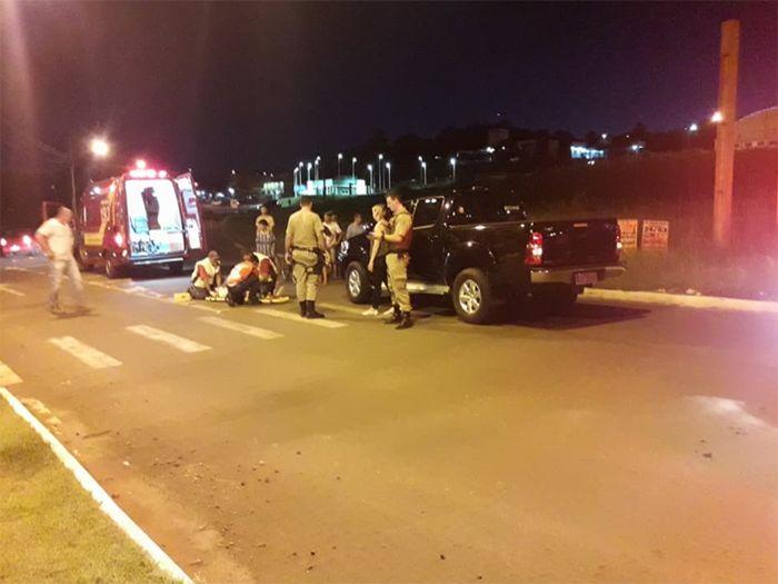 Criança é atropelada na noite desta sexta-feira em São Lourenço do Oeste d0ee6b2323