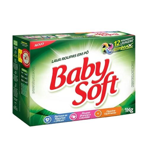 DETERGENTE PÓ BABY SOFT   CAIXA  C/ 20X1KG