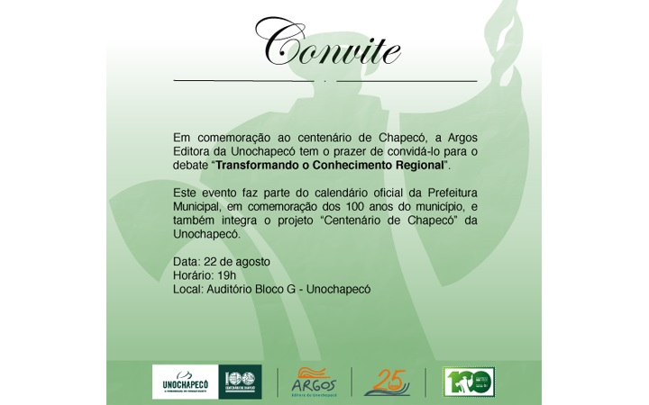 Editora Argos promove debate sobre a região oeste de Santa Catarina