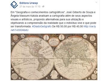 Editora Unesp apresenta dicas de leitura e oferece descontos em homenagem ao Dia do Geógrafo