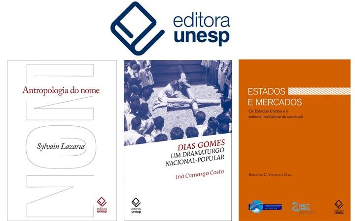 Editora Unesp lança três novas publicações