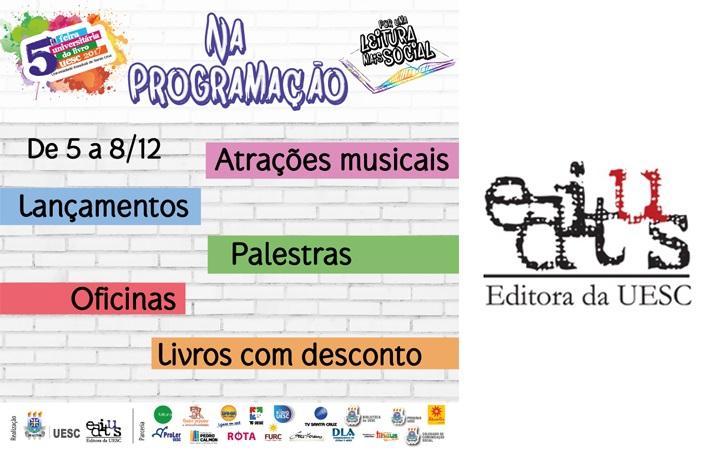 Editus divulga a programação da 5ª Feira do Livro da UESC