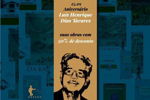 Edufba homenageia historiador Luís Henrique Tavares com 3 dias de promoção