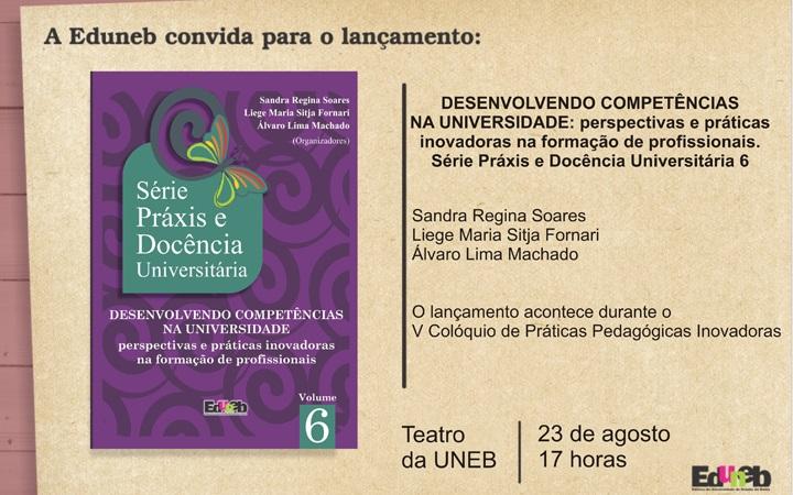 Eduneb realiza lançamento do 6º volume da série Práxis e Docência Universitária