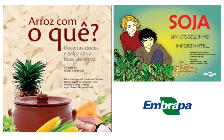 Embrapa publica dois novos títulos sobre arroz e soja