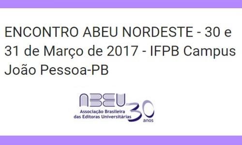 Encontro da ABEU Nordeste 2017 acontece em João Pessoa no fim de março