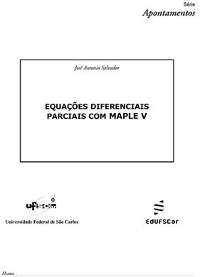 Equações diferenciais parciais com Maple V