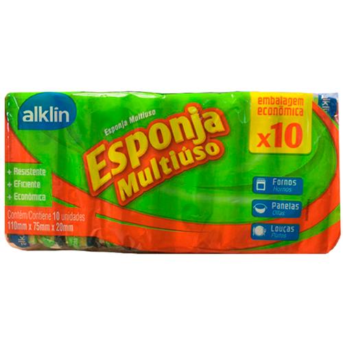 ESPONJA ALKLIN DUPLA FACE | FARDO  C/ 12X10 UNID