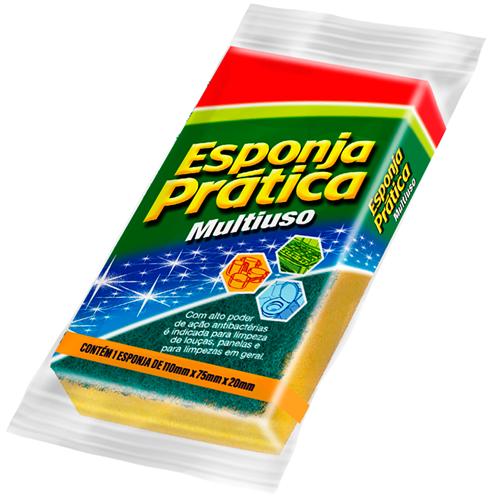 ESPONJA PRÁTICA MULTI USO UNITÁRIA | CAIXA  C/ 60X1