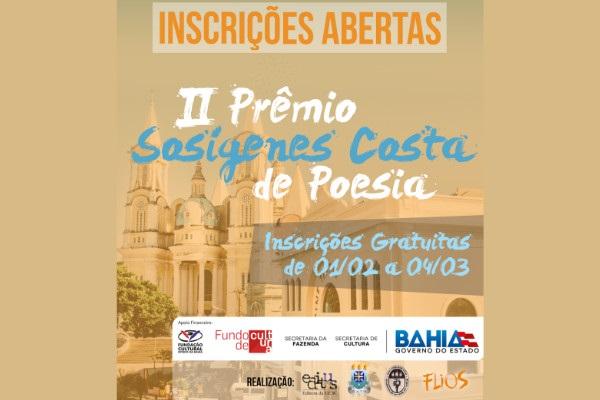 Foi divulgado o Edital do II Prêmio Sosígenes Costa de Poesia