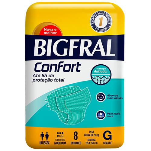FRALDA BIGFRAL PLUS REGULAR GRANDE | FARDO  C/ 8X8 UNID