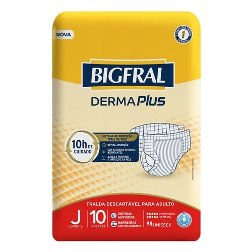 FRALDA BIGFRAL DERMA PLUS REGULAR JUVENIL | FARDO  C/ 8X10 UNID