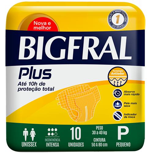 FRALDA BIGFRAL PLUS NOR PEQUENA | FARDO  C/ 8X10 UNID