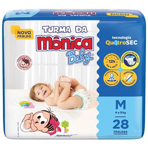 FRALDA TURMA DA MONICA JUMBO MEDIA| FARDO  C/ 6X28 UNID