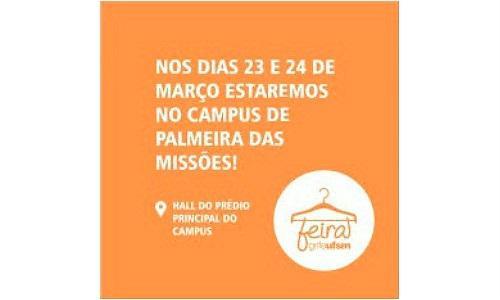 Editora UFSM organiza feira no campus universitário de Palmeira das Missões
