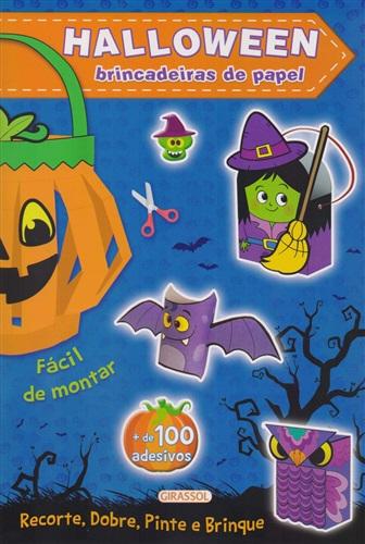 Halloween Azul: Brincadeiras de Papel: 01