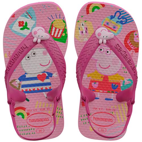 HAVAIANAS KIDS  BABY PEPPA PIG ROSA FLUX  22   1 PAR