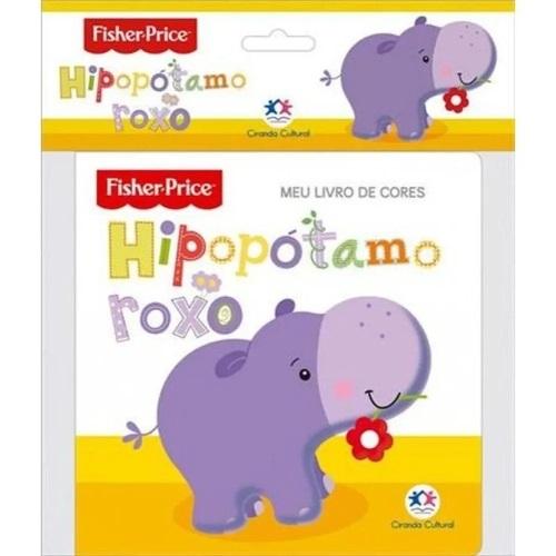 Fisher-Price - Hipopótamo roxo - Livro de banho