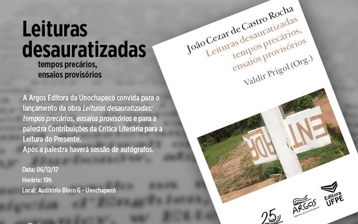 """Argos promove lançamento de """"Leituras desauratizadas"""""""