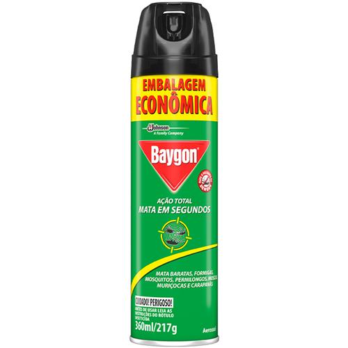 INSETICIDA BAYGON AERO AÇÃO TOTAL ECONOMICO | PACOTE  C/ 12X360ML