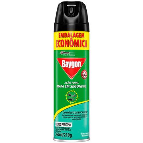 INSETICIDA BAYGON AERO MULTI EUCALIPTO ECONOMICO | PACOTE  C/ 12X360ML