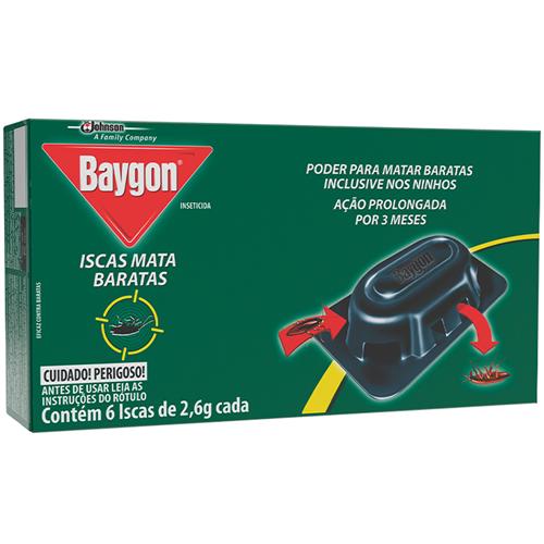 INSETICIDA BAYGON ISCA MATA BARATA   PACOTE  C/ 3x6