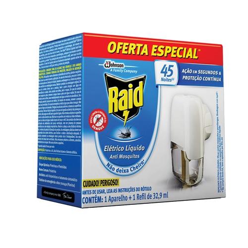 INSETICIDA RAID 45 NOITES  REFIL + APARELHO