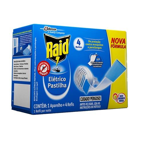 INSETICIDA RAID APARELHO 12 HORAS PASTILLHAS