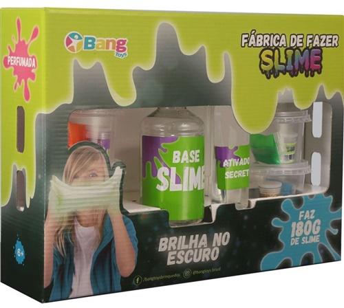 Kit Fábrica de Clear Slime Brilha no Escuro 180G - Bang Toys
