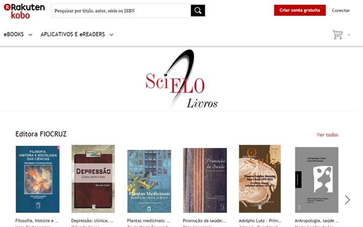 Kobo cria página exclusiva com títulos indexados no SciELO Livros