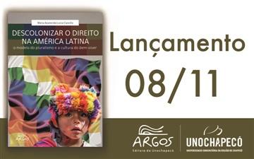 """Lançamento do livro """"Descolonizar o Direito na América Latina"""""""