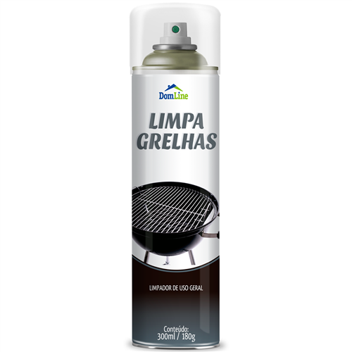 LIMPADOR GRELHA DOMLINE    CAIXA  C/ 3X300ML