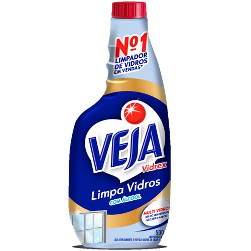 LIMPADOR VEJA VIDREX REFIL TRADICIONAL    CAIXA  C/ 6X500ML