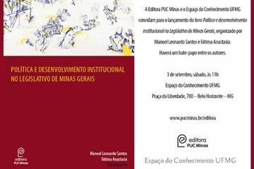 Livro sobre Poder Legislativo no Brasil marcará próximo evento da Editora PUC Minas