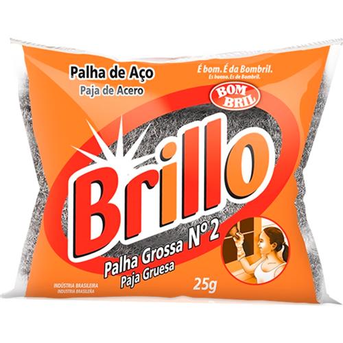 PALHA DE AÇO  BRILLO N.2    PACOTE  C/ 20X1X25