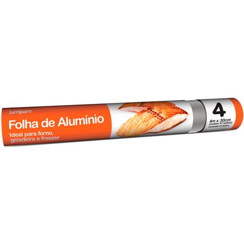 PAPEL ALUMÍNIO LUMIPAM 30X4M  | CAIXA  C/ 1X25