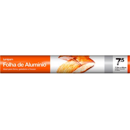 PAPEL ALUMÍNIO LUMIPAM 45X7,5M  | CAIXA  C/ 1X35